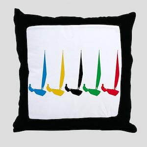 Sailing Regatta Throw Pillow