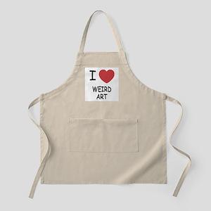 I heart weird art Apron