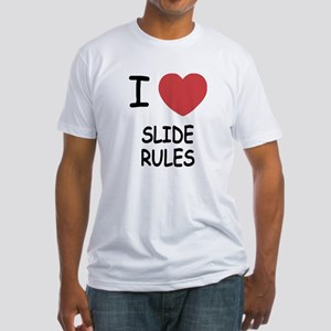 I heart slide rules Fitted T-Shirt