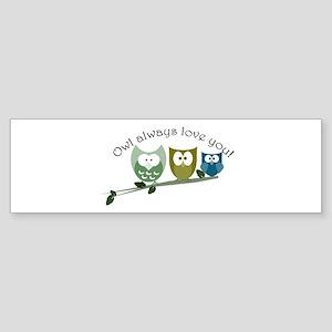 Owl always love you! Sticker (Bumper)