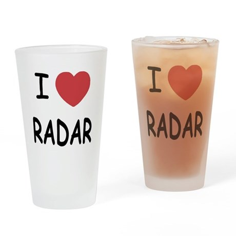 I heart radar Drinking Glass