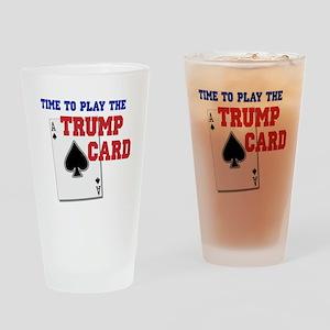 Trump Card Drinking Glass