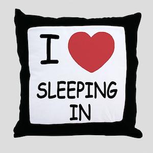I heart sleeping in Throw Pillow