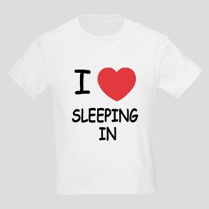 I heart sleeping in Kids Light T-Shirt