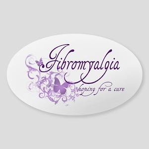 Fibromyalgia / Cure Sticker (Oval)
