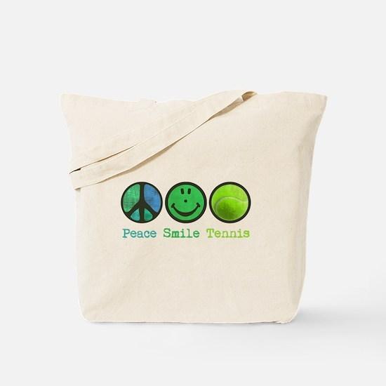 Smile and TENNIS Tote Bag