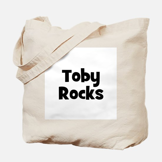 Toby Rocks Tote Bag