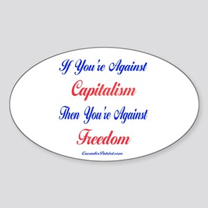 Capitalism Equals Freedom Sticker (Oval)