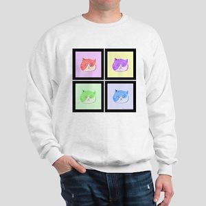 Pop Art Cats Sweatshirt