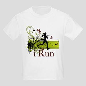 iRun Decorative Running Girl Kids Light T-Shirt