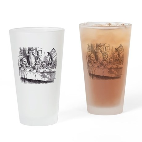 Mad Tea Party Drinking Glass