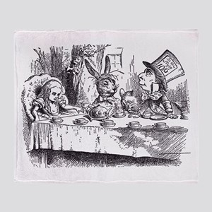 Mad Tea Party Throw Blanket