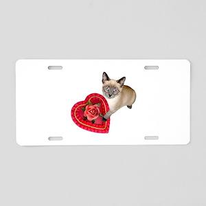 Kitten Valentine Aluminum License Plate
