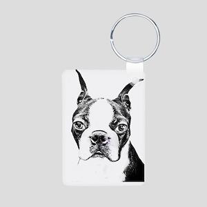 BOSTON TERRIER - DOG Aluminum Photo Keychain