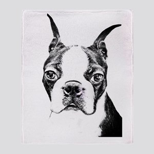 BOSTON TERRIER - DOG Throw Blanket