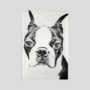 BOSTON TERRIER - DOG Rectangle Magnet