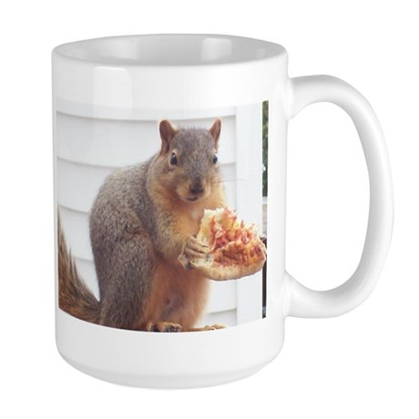 Lil Petey - The Pizza Eating Squirrel Large Mug