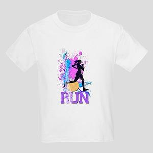 Run - Running Girl Kids Light T-Shirt