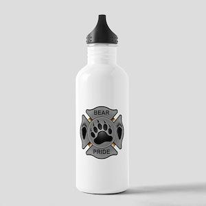 Bear Pride Firefighter Badge Stainless Water Bottl