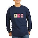 Geek I Love You Long Sleeve Dark T-Shirt