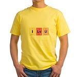 Geek I Love You Yellow T-Shirt