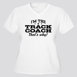 Funny Track Coach Women's Plus Size V-Neck T-Shirt