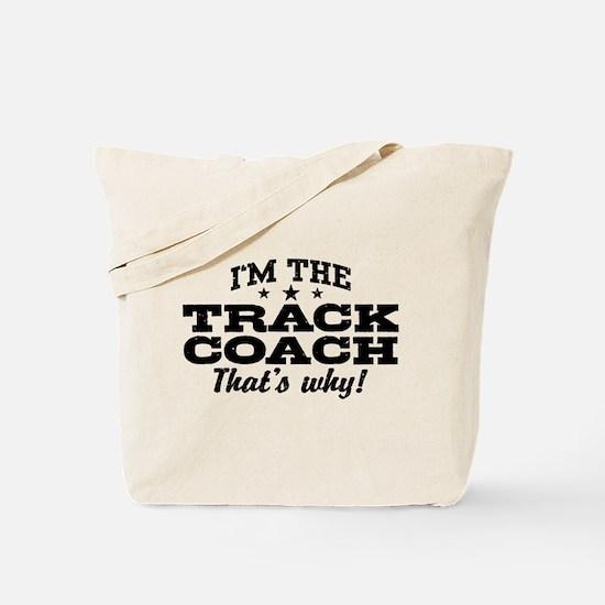 Funny Track Coach Tote Bag