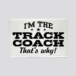 Funny Track Coach Rectangle Magnet