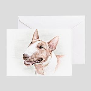 BULL TERRIER - DOG Greeting Card