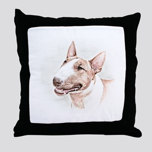 BULL TERRIER - DOG Throw Pillow