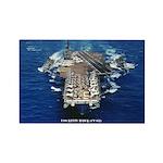 USS KITTY HAWK Rectangle Magnet