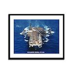 USS KITTY HAWK Framed Panel Print