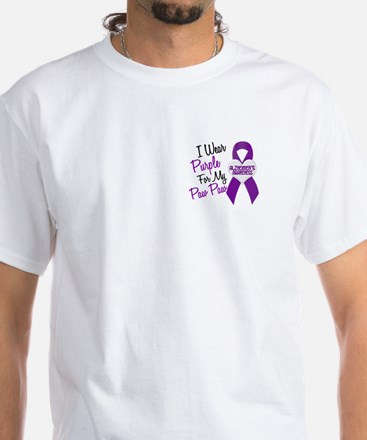 I Wear Purple 18 Alzheimers White T-Shirt
