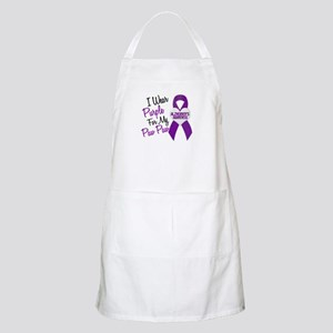 I Wear Purple 18 Alzheimers Apron