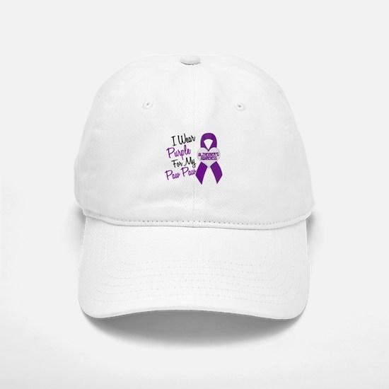 I Wear Purple 18 Alzheimers Baseball Baseball Cap