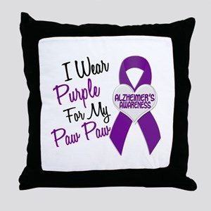 I Wear Purple 18 Alzheimers Throw Pillow
