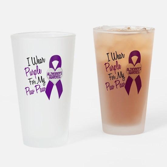 I Wear Purple 18 Alzheimers Drinking Glass