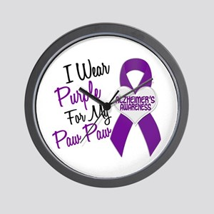 I Wear Purple 18 Alzheimers Wall Clock
