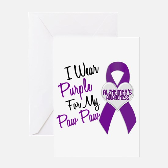 I Wear Purple 18 Alzheimers Greeting Card
