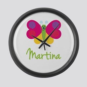 Martina The Butterfly Large Wall Clock