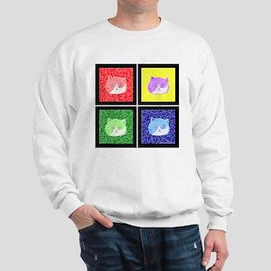 Vivid Pop Art Cats Sweatshirt