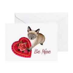 Kitten Be Mine Valentine Greeting Card