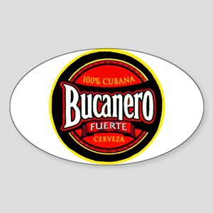 Cuba Beer Label 5 Sticker (Oval)