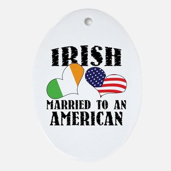 Irish Married American Ornament (Oval)