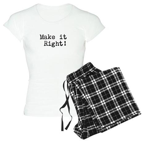 Make it right Women's Light Pajamas