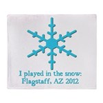 Flagstaff Snowplay 2012 Throw Blanket