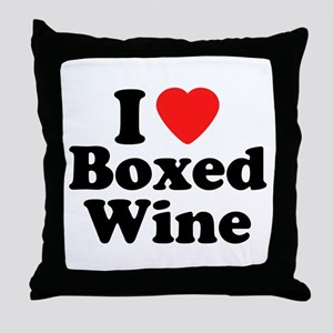 Boxed Wine Throw Pillow