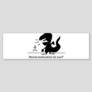 Motivate To Run Sticker (Bumper)