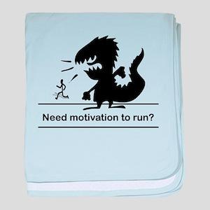 Motivate To Run baby blanket
