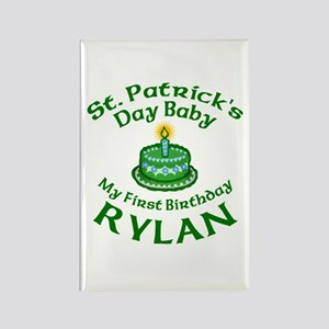 Rylan Personalized Birthday Rectangle Magnet